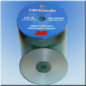 COCKmedia CD-R <b>3-D-Printable</b> 700 MB 52x - <b>100er Folienspindel</b>
