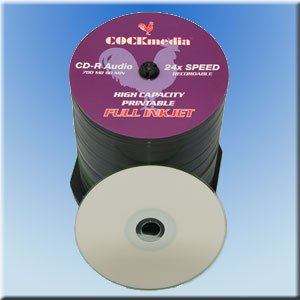 CD-R Audio bedruckbar <b>FULL-INKJET</b> 700 MB-80 Min-24x-<b>4 x 25er CakeBox</b>
